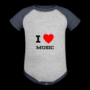 i love music - Baby Contrast One Piece