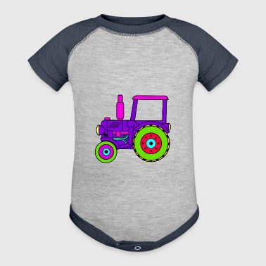 toy tractor / toy tractor pink - Baby Contrast One Piece
