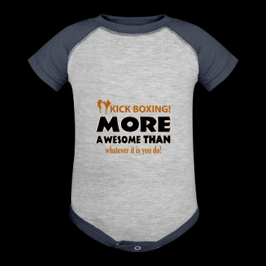 KICK BOXING design - Baby Contrast One Piece