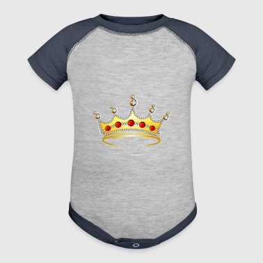 goden royal crown jewel cool art illustration - Baby Contrast One Piece
