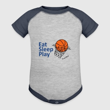 Basket ball - Baby Contrast One Piece