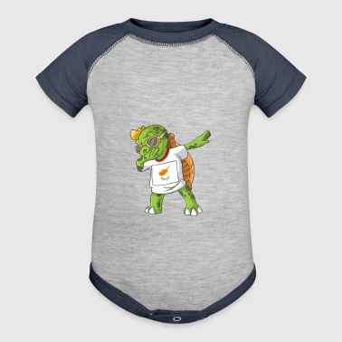 Cyprus Dabbing Turtle - Baby Contrast One Piece