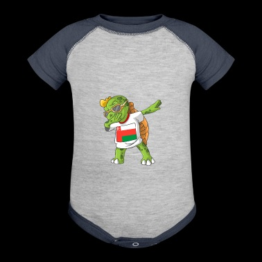 Oman Dabbing Turtle - Baby Contrast One Piece