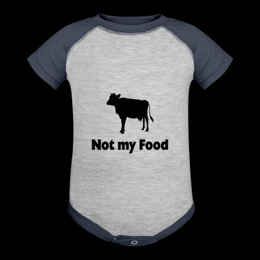 Not My Food Go Vegan Animals Health Gift Idea - Baby Contrast One Piece