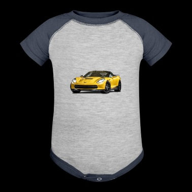 PERFORMANCE YELLOW CHEVROLET CORVETTE - Baby Contrast One Piece