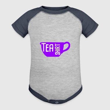 Tea Shirt Purple Power of Tea - Baby Contrast One Piece