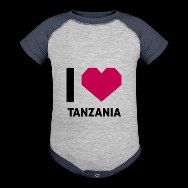 I Love Tanzania - Baby Contrast One Piece