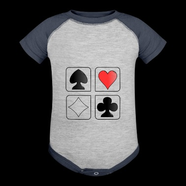 playing cards - Baby Contrast One Piece