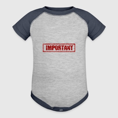 important - Baby Contrast One Piece