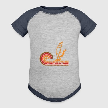 Retro Style Wind Surfer Vintage Wind Surfing - Baby Contrast One Piece