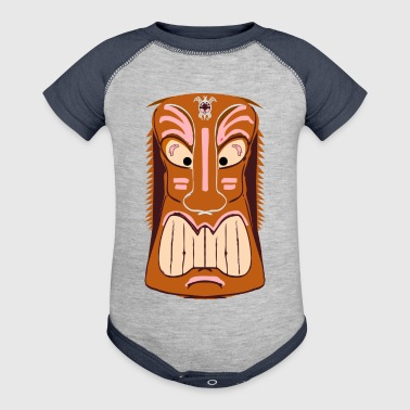 Tiki Mask Graphic Art - Baby Contrast One Piece