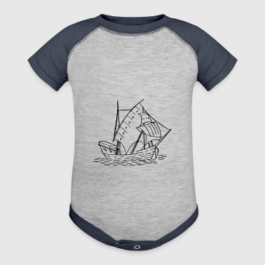 sailboat - Baby Contrast One Piece