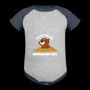 Awesome Groundhog Day Gift - Baby Contrast One Piece