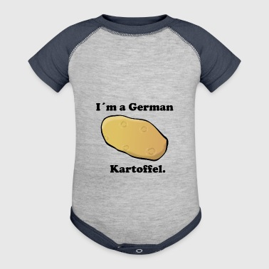 Im a german Kartoffel - potato in german - Baby Contrast One Piece