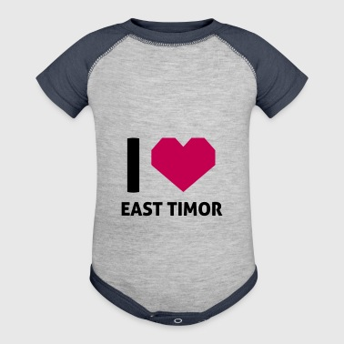 I Love East Timor - Baby Contrast One Piece