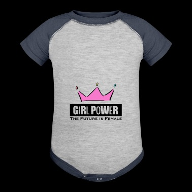 Girl Power Woman Power - Baby Contrast One Piece