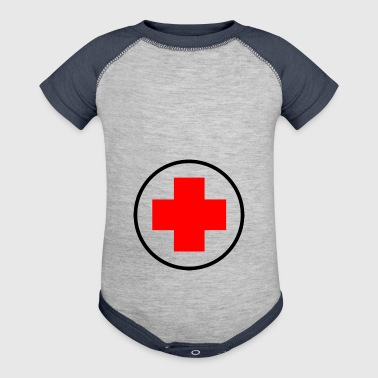 red cross - Baby Contrast One Piece