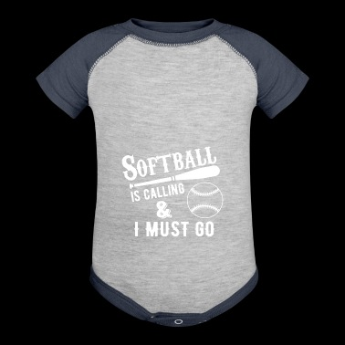 Softball - Baby Contrast One Piece