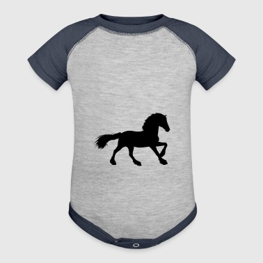 stallion horse - Baby Contrast One Piece