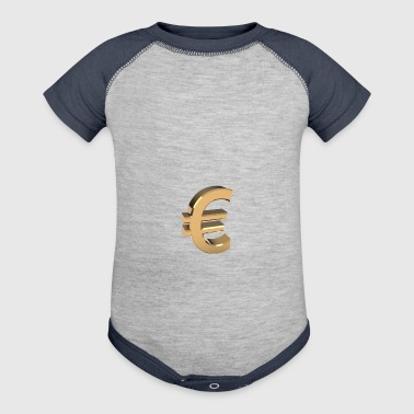 Currency, euro - Baby Contrast One Piece