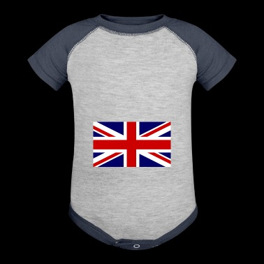 union jack - Baby Contrast One Piece