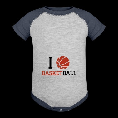 I love basketball - Baby Contrast One Piece