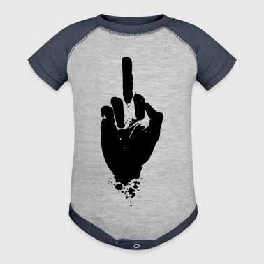 hand Finger anti no f*ck you Demo no - Baby Contrast One Piece