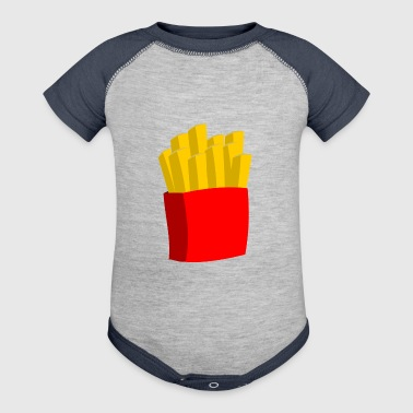 french fries pommes frites fastfood fast food11 - Baby Contrast One Piece