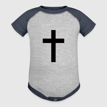 Christian Cross - Baby Contrast One Piece