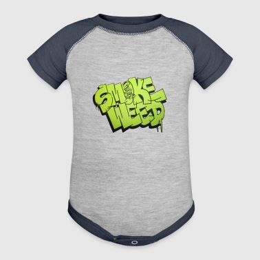 Smoke Weed graffiti Design - Baby Contrast One Piece