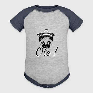 Funny Ole Mexican Pug - Baby Contrast One Piece