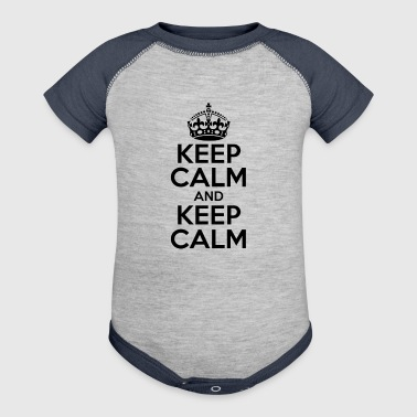 KEEP CALM AND KEEP CALM - Baby Contrast One Piece