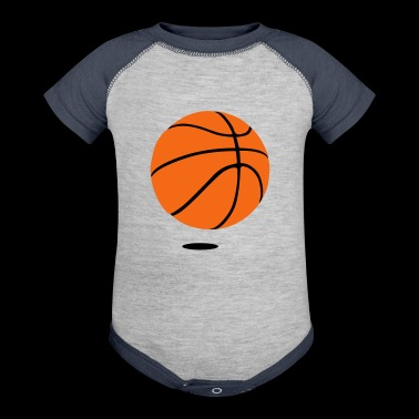 basketball - b ball - basket ball - Baby Contrast One Piece