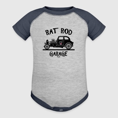 RAT ROD Garage, USA! - Baby Contrast One Piece