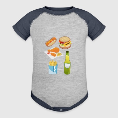 french fries pommes frites fastfood fast food8 - Baby Contrast One Piece