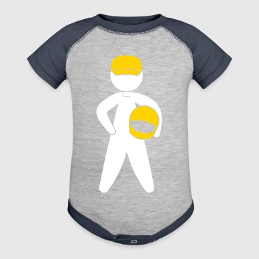 A Racer With Helmet - Baby Contrast One Piece