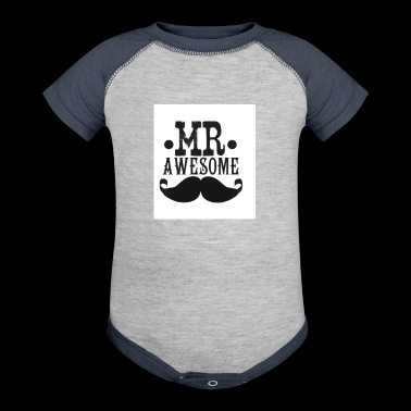 Moustache - Baby Contrast One Piece
