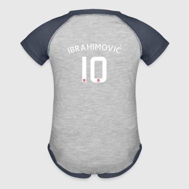 ibrahimovic lucky number - Baby Contrast One Piece