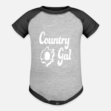 Heart Gal Country Gal - Baseball Baby Bodysuit