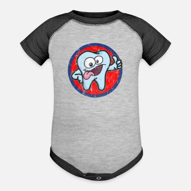 Tooth tooth - Contrast Baby Bodysuit