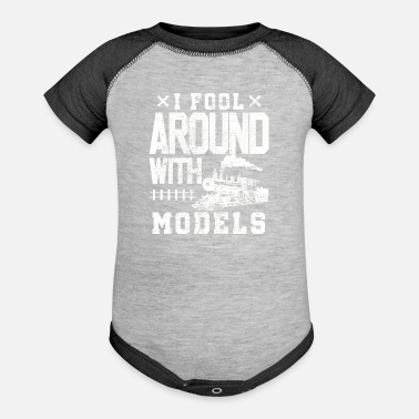 Training Model train train trains - Baseball Baby Bodysuit