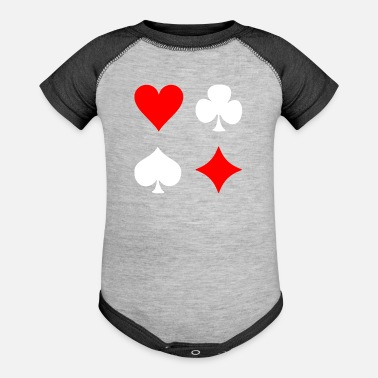 Pik Poker Cross Pik Heart Check - Contrast Baby Bodysuit