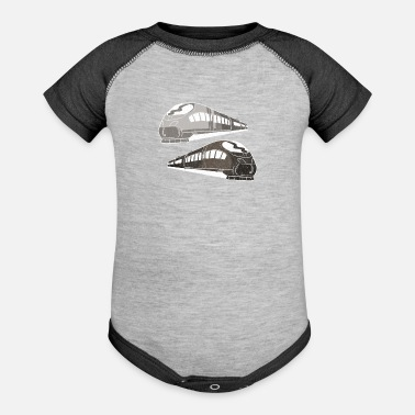 Training Trains train - Baseball Baby Bodysuit