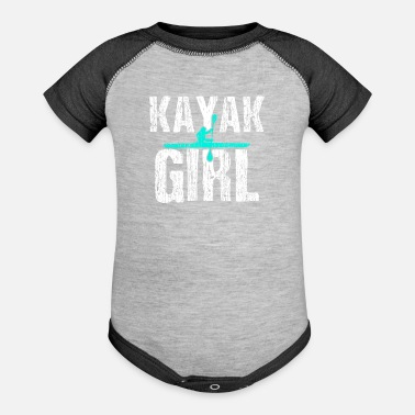 Kayak Kayak Kayaking Kayak Girl - Baseball Baby Bodysuit