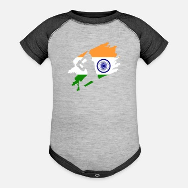 Team Cricket Patriotic Indian India Sports - Baseball Baby Bodysuit