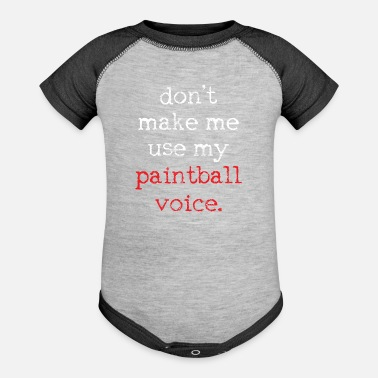 Paintball Paintball Paintball - Baseball Baby Bodysuit