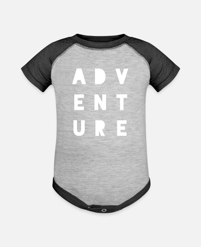 Nature Baby One Pieces - Adventure Adventure - Baseball Baby Bodysuit heather gray/charcoal