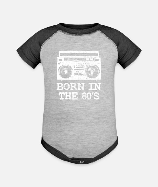 Year Baby One Pieces - 1980 Birthday - Baseball Baby Bodysuit heather gray/charcoal