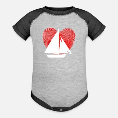 Sailboats SAILBOAT - Baseball Baby Bodysuit