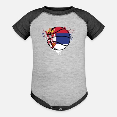 City Serbia Basketball Team - SERBIA - Baseball Baby Bodysuit